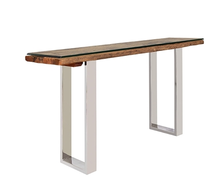 Amalfi Modern Console Table with reclaimed Teak