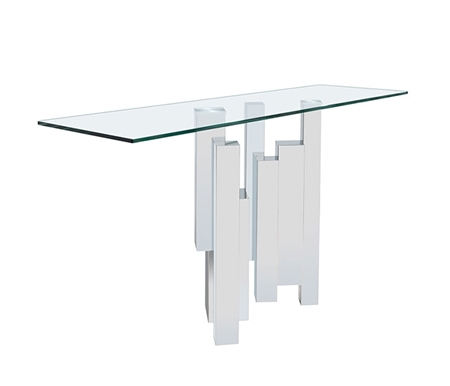 Sanremo Glass Modern Console Table