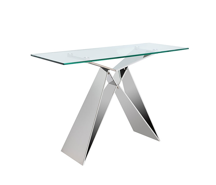 Spezia Glass Modern Console Table