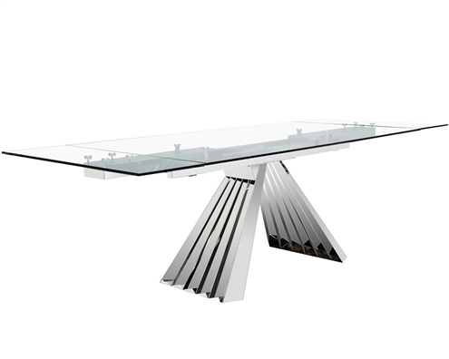 Turin Rectangular Modern Expandable Dining Table
