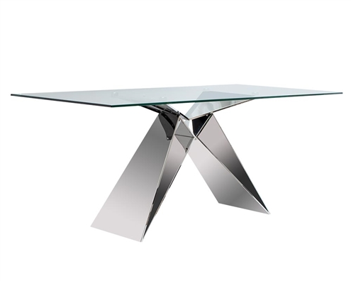 Spezia Rectangular Modern Glass Dining Table