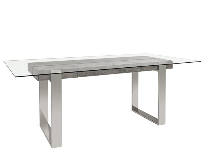 Log Rectangular Modern Dining Table