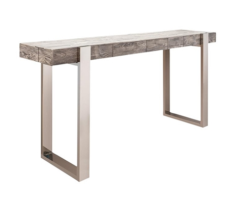 Log Modern Console Table