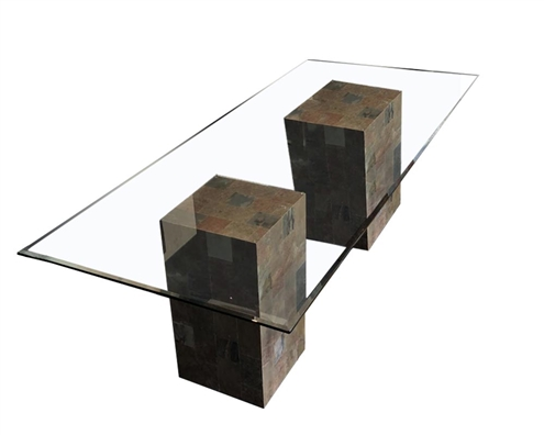 Pedestal Dining Table Modern Glass Dining Table