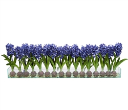 Modern Hyacinths on Casa Moderna Planter - BLUE 48""