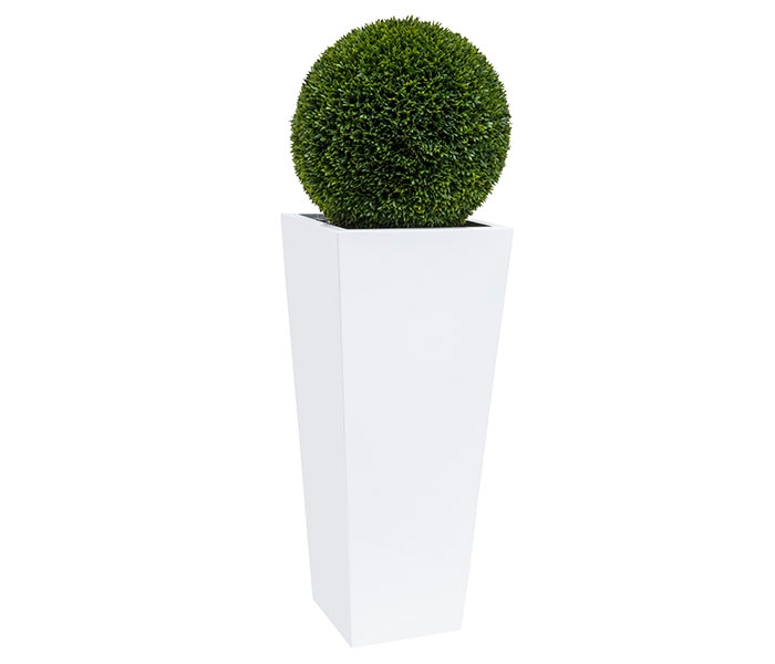"20"" Topiary with Large Beau Fiberglass Vase"