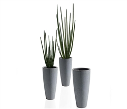 Ashton Tapered Modern Vase with Snake Grass Grey 4Ft