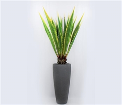Ashton Modern Tapered vase with giant agave plant - GREY