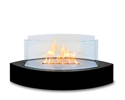 Lexington Fireplace High Gloss Black