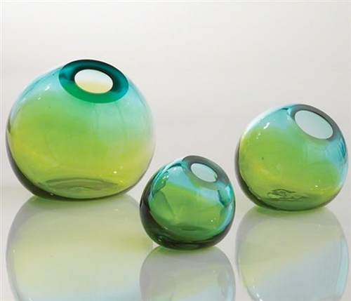 Ombre Ball Modern Vase Aqua/green - Large - Sold out