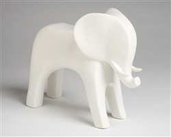 Elephant White Matte Modern Accessory