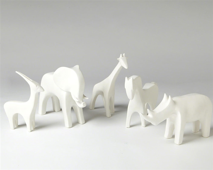Animal Matte White Modern Accessories