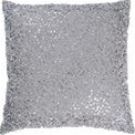 Glamour pillow in Cotton Frabric with Beaded Details. Includes poly insert