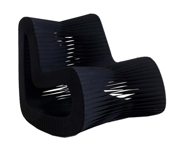Seat Belt Rocking Chair BLACK