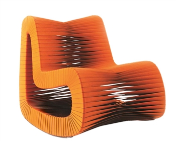Seat Belt Modern Rocking Chair ORANGE