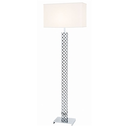 Hartford White Shade Modern Floor Lamp - DRL FLOOR SAMPLE