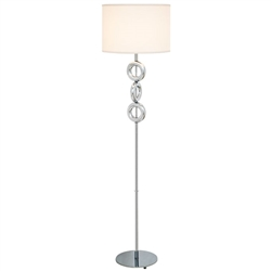 Seneca Modern Floor Lamp White Shade - SOLD OUT