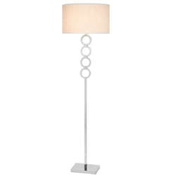 Phoebe Modern Floor Lamp beige shade - Naples Floor Sample