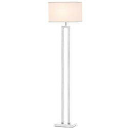 Casale White Shade Modern Floor Lamp