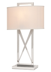 Lodato White Shade Modern Table Lamp