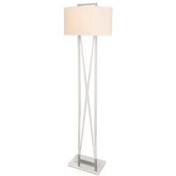 Lodato White Shade Modern Floor Lamp - Backordered