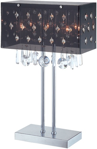 Very elegant and adorned ceiling, floor, and table lamps.