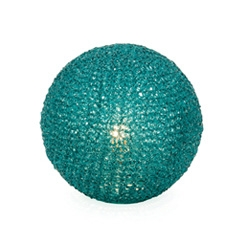 Sphere Mesh Table Lamps. Available in Clear, Turquoise or Olive