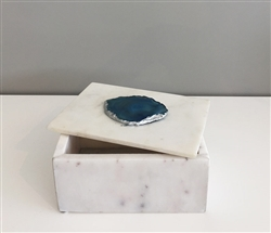 Marble and Blue Agate Box