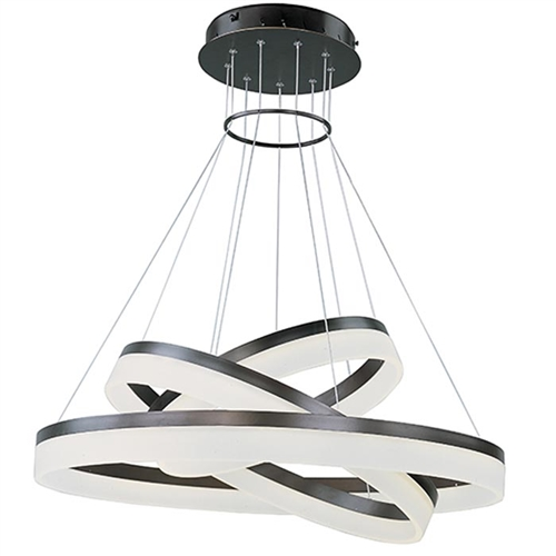 Modern Saturn 3-Tier LED Pendant