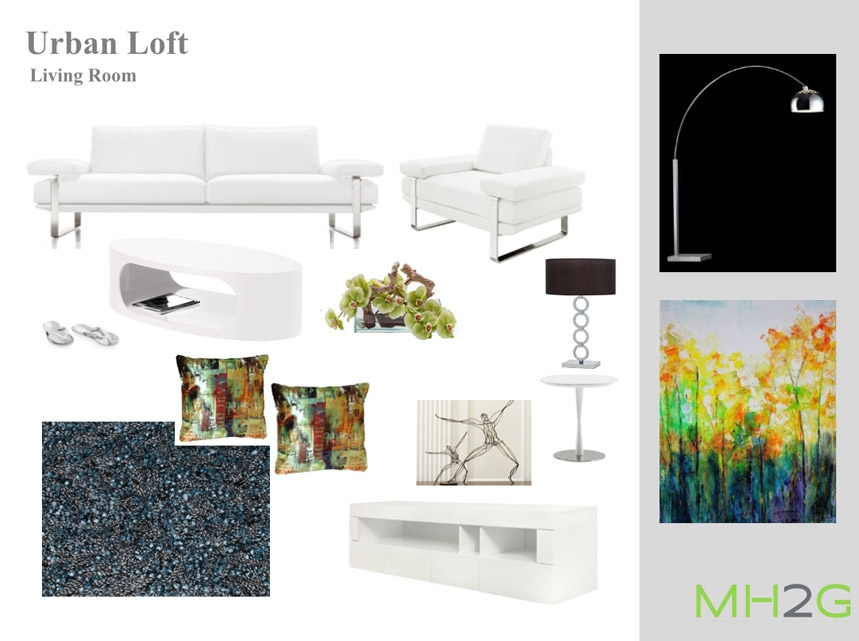 Fabulous Urban Living Room Complete Package