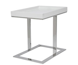 Ginepri Modern Side Table in White