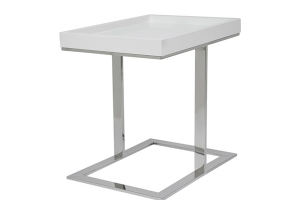 Ginepri End Table in WHITE- FINAL SALE