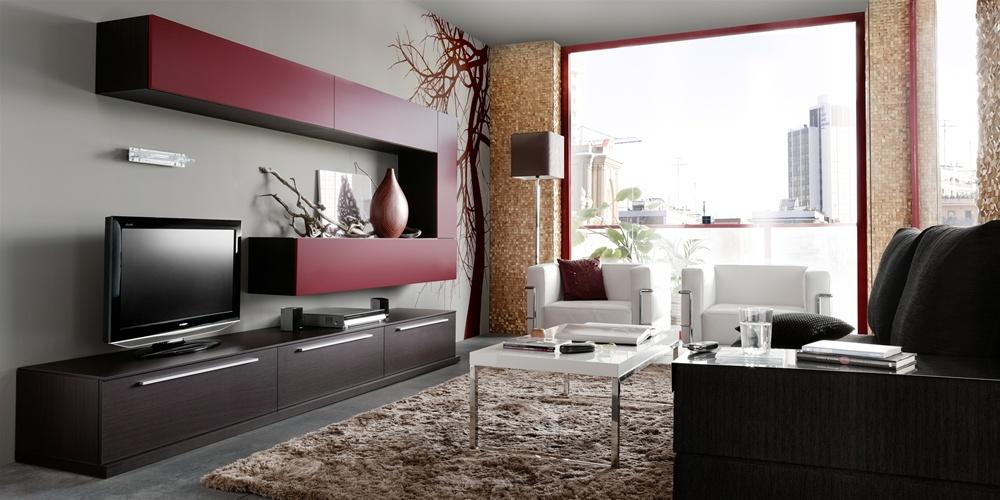Wall unit 10 in walnut white unavailable - Muebles decoracion sevilla ...