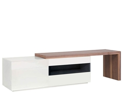 Arzano Modern* TV Unit in Walnut/White