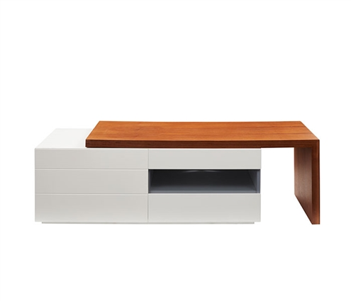 Arzano Modern TV Unit in Walnut/White