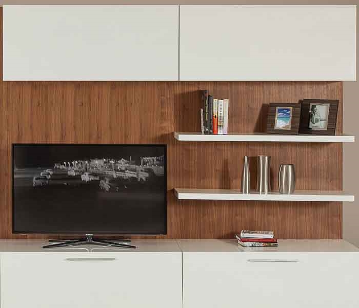 Beautiful large TV unit  White Lacquer Shelf - Short