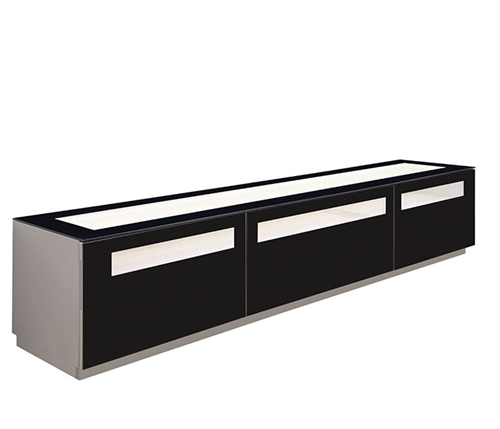 Lucano Modern TV Unit in Grey Lacquer Outlet