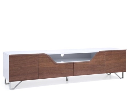 Bari Modern TV Unit in Walnut and White