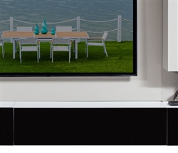 Teviso Modern Horizontal Cabinet WHITE/BLACK GLASS