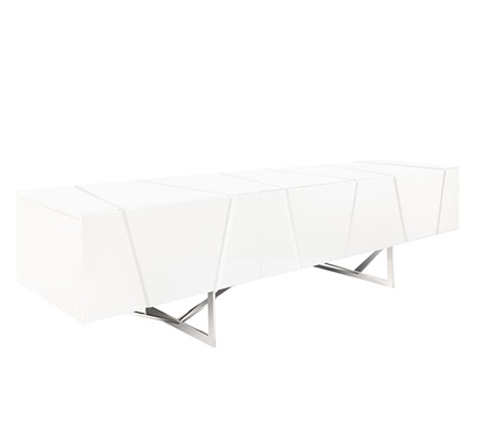 Bellagio Modern TV Unit in White lacquer