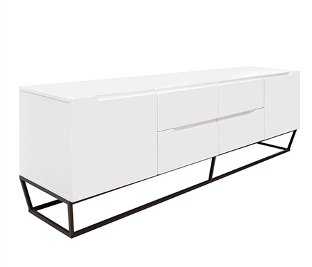 Bergamo Modern TV Unit in White lacquer