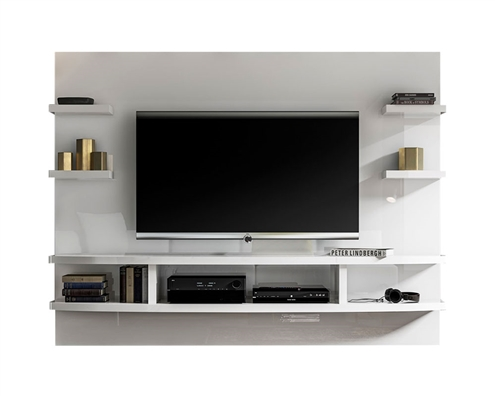 New Treviso Modern Wall Unit White