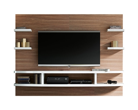 New Treviso Modern Wall Unit Walnut