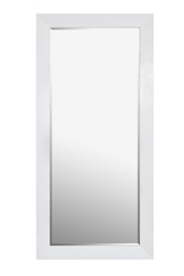 White Standing Mirror with Crocodile pattern frame.