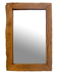 Amalfi Reclaimed Wood Modern Rectangular Mirror