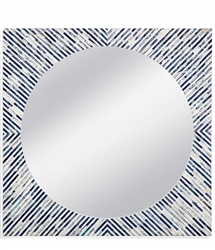 Sunburst Bone Modern Wall Mirror
