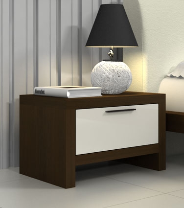 Beautiful contemporary nightstand with one drawer