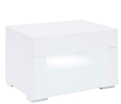Citra Modern Side Table in White