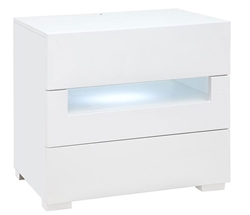 Citra Modern Large Side Table in White Lacquer