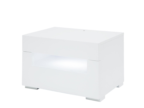 Citra Modern Side Table in White- FINAL SALE - NO RETURNS